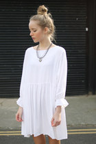 white boxy dress THE WHITEPEPPER dress