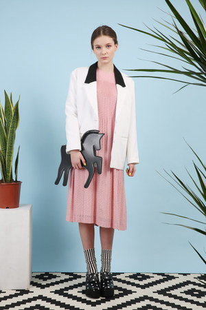 ivory THE WHITEPEPPER jacket - light pink THE WHITEPEPPER dress