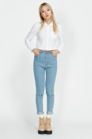 white THE WHITEPEPPER blouse - THE WHITEPEPPER boots - THE WHITEPEPPER jeans