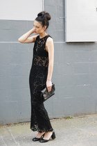 black lace THE WHITEPEPPER dress