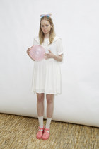 smock THE WHITEPEPPER dress - Juju Jellies sandals