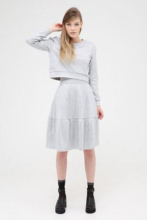 silver THE WHITEPEPPER skirt - black THE WHITEPEPPER socks
