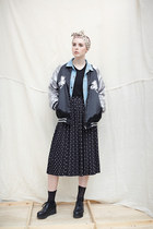 black THE WHITEPEPPER jacket - sky blue THE WHITEPEPPER jacket