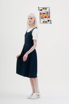 navy THE WHITEPEPPER dress - ivory THE WHITEPEPPER top