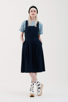 white pinafore midi THE WHITEPEPPER dress - sky blue THE WHITEPEPPER dress