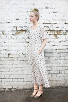 off white polka dot THE WHITEPEPPER dress