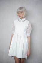 white THE WHITEPEPPER dress - white THE WHITEPEPPER blouse