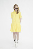 yellow THE WHITEPEPPER dress - white THE WHITEPEPPER shoes