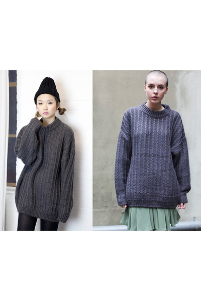 charcoal gray THE WHITEPEPPER jumper