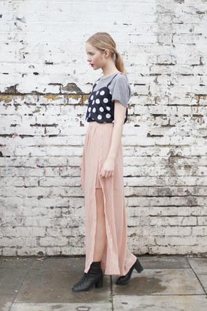 light pink chiffon THE WHITEPEPPER skirt
