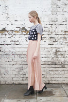 light pink chiffon THE WHITEPEPPER skirt