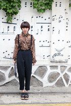 brown leopard THE WHITEPEPPER blouse