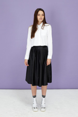 midi THE WHITEPEPPER skirt - cropped THE WHITEPEPPER shirt