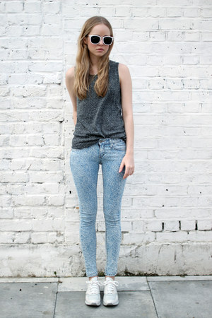 sky blue denim THE WHITEPEPPER jeans