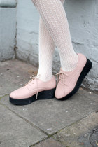 light pink creepers THE WHITEPEPPER shoes