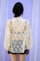 Ivory Lace Blouse THE WHITEPEPPER Blouses