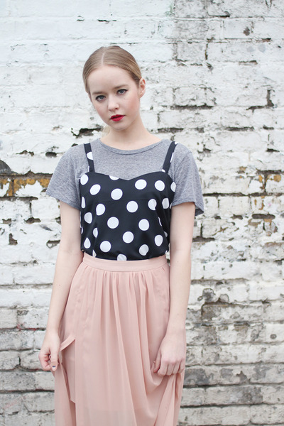 black polka dot THE WHITEPEPPER vest