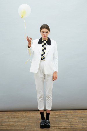 ivory THE WHITEPEPPER blazer - ivory THE WHITEPEPPER pants