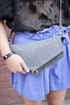 Heather-gray-clutch-shoulder-the-whitepepper-bag