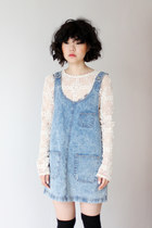 sky blue denim THE WHITEPEPPER dress