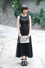 Black Chiffon The Whitepepper Dresses