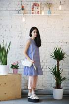 ivory THE WHITEPEPPER bag - blue THE WHITEPEPPER dress