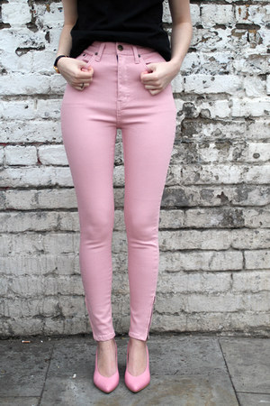 bubble gum THE WHITEPEPPER pants