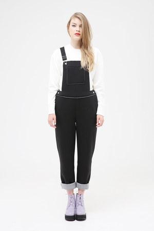 ivory THE WHITEPEPPER top - black THE WHITEPEPPER bodysuit