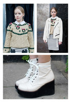 beige THE WHITEPEPPER jumper - ivory THE WHITEPEPPER boots