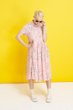 bubble gum THE WHITEPEPPER dress