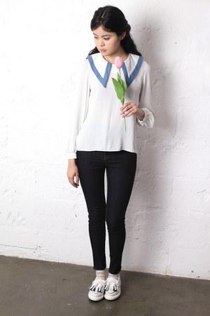sailor vintage shirt - THE WHITEPEPEPR jeans - tassel THE WHITEPEPPER loafers