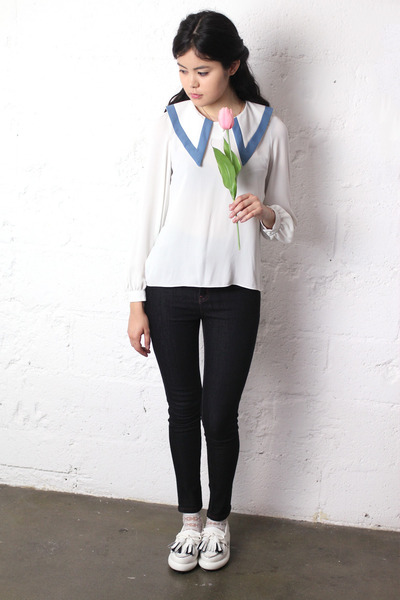 sailor vintage shirt - THE WHITEPEPEPR jeans - tassel THE WHITEPEPPER loafers
