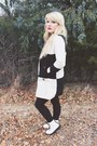 White-combat-boots-forever-21-boots-white-black-and-white-sheinside-coat