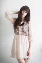 light pink pins and needles dress