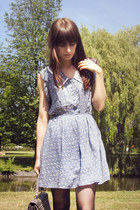 light blue bunny-printed dress