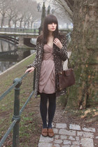 Topshop shoes - H&M dress - leopard-print Zara coat - vintage bag