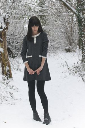 charcoal gray miss patina dress