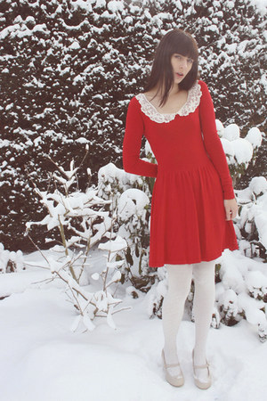 red Primark plus DIY dress