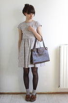 beige vintage dress