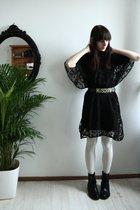 black Moschino belt - black H&M dress