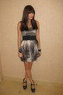 Gray-forever-21-dress-black-mandee-belt-white-mandee-necklace-black-nine-w