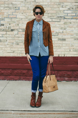 blue easy jean American Apparel jeans - brown samantha pleet Wolverine boots