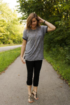 charcoal gray grey washed out cheap and from a farm store t-shirt