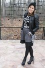 Booties-vintage-boots-leather-jacket-vintage-jacket-hot-topic-t-shirt