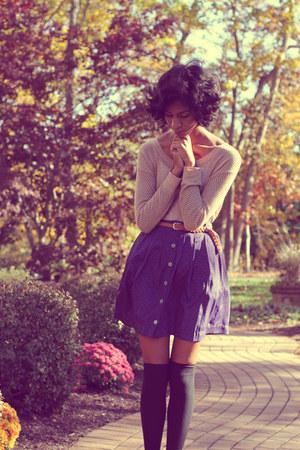 Target skirt - DSW boots - American Eagle sweater - Forever 21 socks