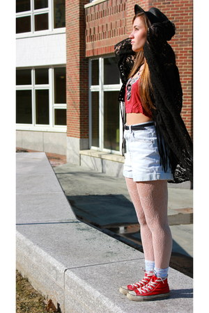 Urban Outfitters shirt - American Apparel shorts - fringe Forever 21 vest