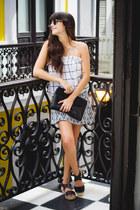 navy mini skirt Zara skirt - gold round PacSun sunglasses