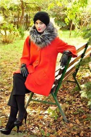Vero Moda jacket - asos hat - H&M scarf - Zara heels
