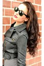 Hennes-skirt-terranova-jacket-stradivarius-bag-ray-ban-sunglasses