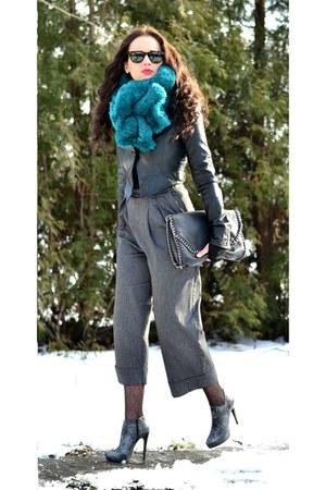 asos scarf - Aldi boots - Vila jacket - Stradivarius bag
